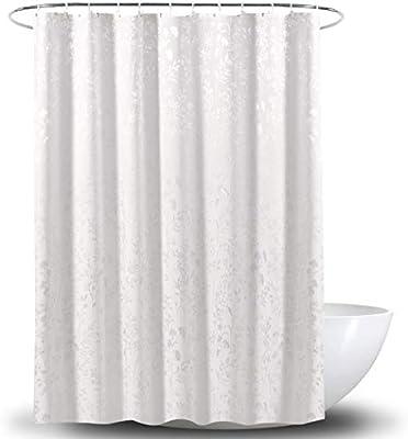 HONGNA Tejido De Poliéster Cortina De Ducha Hoja De Satén Resistente Al Moho Espesamiento Baño Partición 180 * 180 Cm, 180 * 200 Cm (Color : White, Size : 180 * 180cm): Amazon.es: Hogar