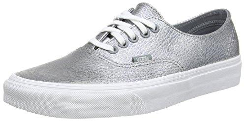 Vans Authentic Decon Scarpe da Ginnastica Basse, Unisex Adulto Grigio (Metallic Leather/Gray)