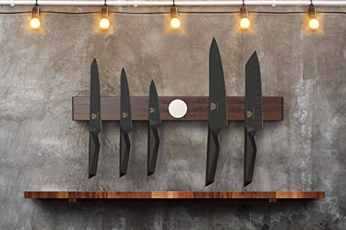 DALSTRONG - 21'' Powerful Magnetic Knife Holder Strip - Universal Magnetic Power Rack Storage - Dark Brown Acacia by Dalstrong (Image #4)