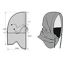 UPmall Tactical Balaclava Windproof Hat Ski Face Mask Fleece Hood Sports Mask -Black
