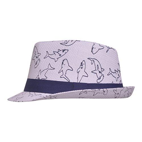 UPF 50+ Fedora Hat, Ocean Club, Medium (Band Raffia)