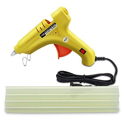 80W Hot Glue Gun High Temperature Glue Gun Set for DIY, Arts & Crafts and Quick Repair, Included 10pcs Glue Gun Sticks by AITREASURE