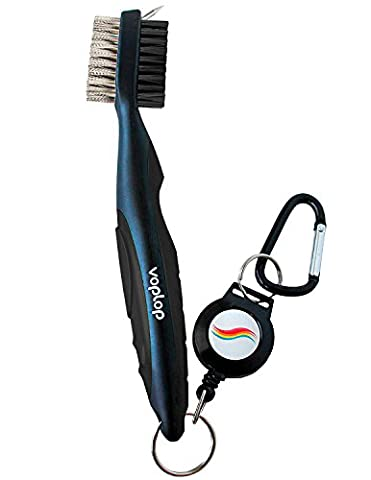 Golf Brush and Club Groove Cleaner - Easily Attaches to Golf Bag - Deep Clean Iron Grooves - Cleaning Club Face - Bag Clip & Retractable Extension Cord & Perfect Gift (Ultra - Golf Kit