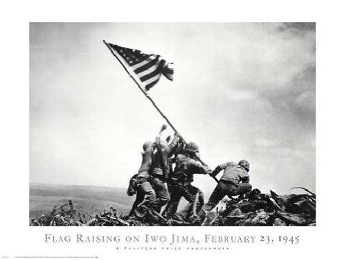 Joe Rosenthal - Flag Raising on Iwo Jima February 23 1945 NO LONGER IN PRINT - LAST ONE!!