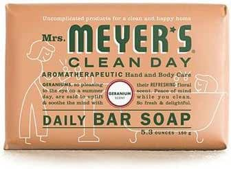 Mrs. Meyers Bar Soap Geranium 5.3 OZ