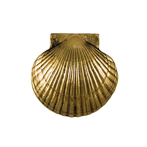 - Scallop Door Knocker - Brass (Premium Size)