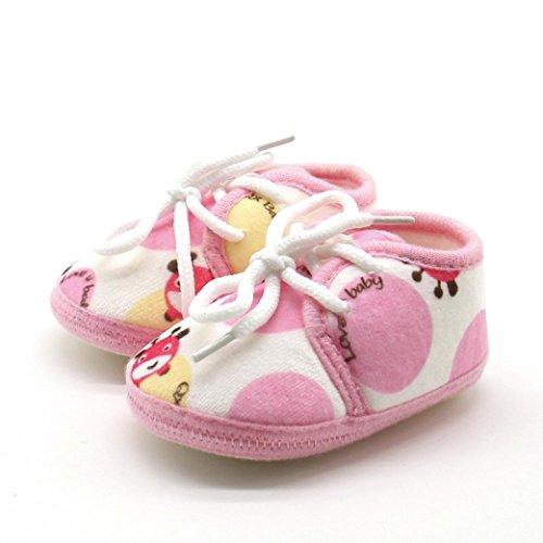 Igemy 1 Paar Neugeboren Säugling Baby Animal Printed Sneaker Anti-Rutsch Soft Sole Kleinkind Schuhe Rosa