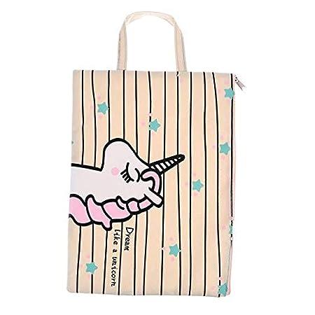 698a91638f52 Amazon.co.jp: Glorwefy ユニコーン ファイルバッグ ファイルケース 連絡袋 文具ケース 収納袋 ハンドバッグ 化粧品ポーチ  小物入れ 手提げかばん 丈夫 耐久 防水 ...