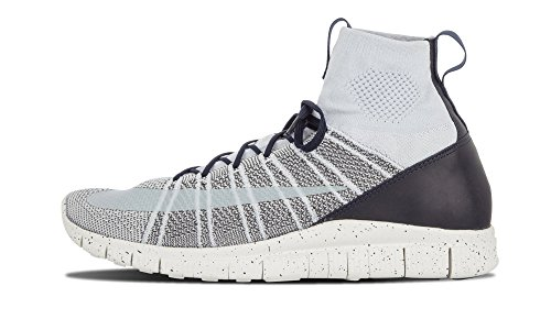 Nike Free Flyknit Mercurial CR7 805554-001 Pure Platinum White Dark Grey Men s Shoes