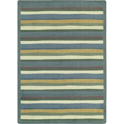 Joy Carpets Kid Essentials Active Play & Juvenile Yipes Stripes Rug, Soft, 3'10