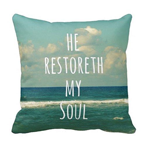 He Restoreth My Soul Bible Verse Scripture Pillow Case