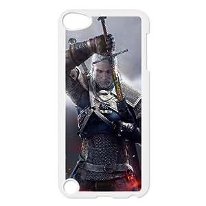 The Witcher3 Wild Hunt 002 funda iPod Touch 5 caja funda del teléfono celular blanco cubierta de la caja funda EVAXLKNBC12604
