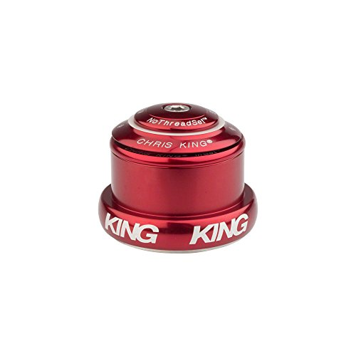 (Chris King InSet 3 Tapered Headset with Griplock Red, One)