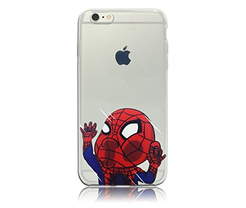 Spiderman iPhone 6 PLUS (BIG VERSION) / 6S PLUS (BIG VERSION) Case, PopJoy® - (5.5 Inch Case) Light, flexibile, clear TPU case w/ premium designs