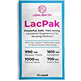 Lactation Power Pak Supplement for Breastfeeding Moms - Maximum Strength - Fenugreek, Fennel Seed, Goats Rue, and Blessed Thistle with DHA - Boost Your Increase in Breast Milk Supply - 10 Pack …
