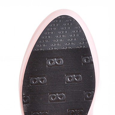 Heart&M Damen Stiefel Komfort Neuheit Modische Stiefel Frühling Winter Kunstleder Normal Strass Blockabsatz Weiß Schwarz Beige Rosa 10 - 12 cm black