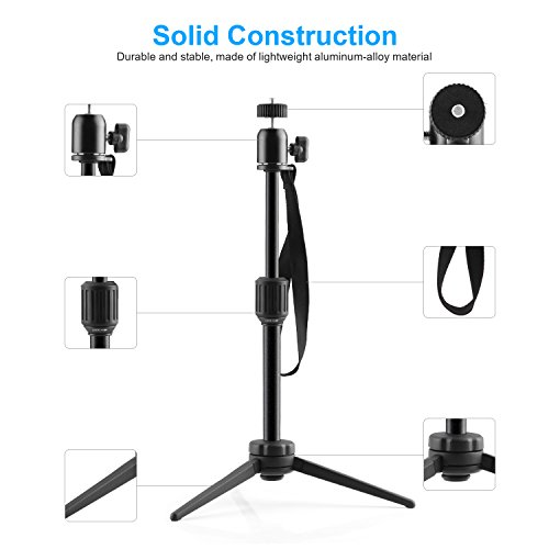 Nebula Capsule Adjustable Tripod Stand, Myriann Aluminum Alloy Portable Projector Stand for Pico Projector, Pocket Projector, and Mini Projector with Universal Mount and Swivel Ball Head by MYRIANN (Image #4)