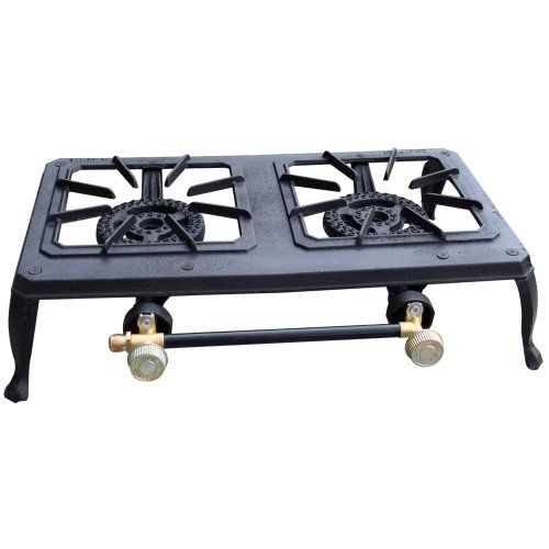 Sportsman DBCIS Double Burner Outdoor Cast Iron Propane Stove