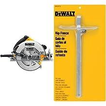 DEWALT DWE575SB 7-1/4-Inch Lightweight Circular Saw with Electric Brake & DEWALT DW3278 Circular Saw Rip Fence