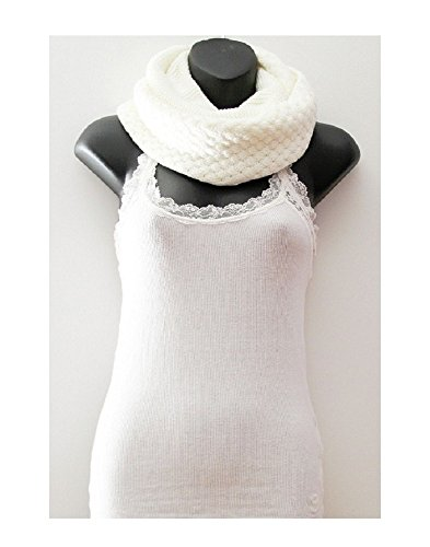 Ivory_Neck warmer scarf Infinity scarf long Shawl circle (US - Electric Sunglasses Overdrive