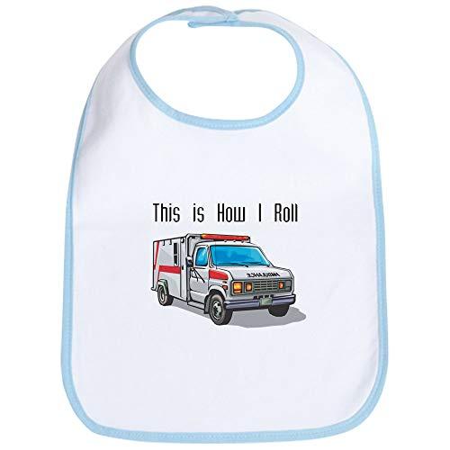 CafePress How I Roll (Ambulance) Bib Cute Cloth Baby Bib, Toddler Bib