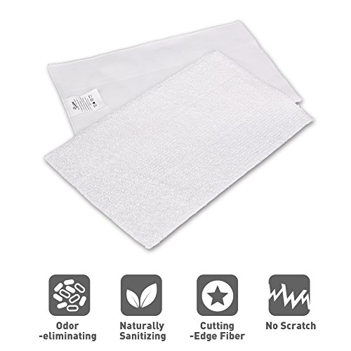 - Mop Cleaning Pads - Microfiber Cleaning Pads, Set of 2 Mop Pads Washable Microfiber Mop Pads with 3 Layer, Replacement for Light 'n' Easy S3601, Steam Pocket Mop Pads for Most Hard Flooring Surface