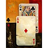Trademark Fine Art Poker Queen by Barbara Katz Canvas Wall Art, 36 by 48-Inch
