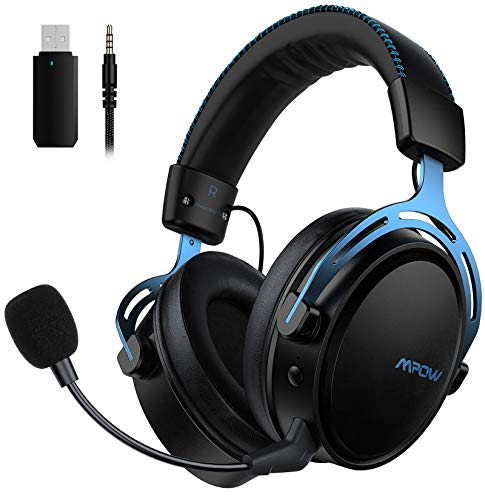 Mpow Air 2.4GHz Wireless Gaming Headset – PS4 Headset with Stereo Surround Sound, 17 hours Wireless Use (Wired Optional…