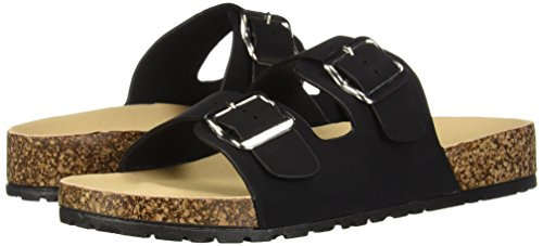Black Qupid Slide Women's Flat Sandal In 66XRr4