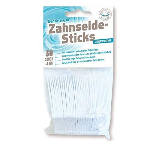 Denta Brush Zahnseide Sticks ungewachst 600 Stück (20x 30er Pack)