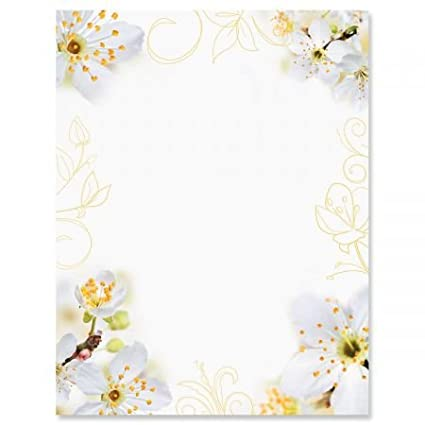 photo floral letter papers set of 25 spring stationery papers are 8 12quot