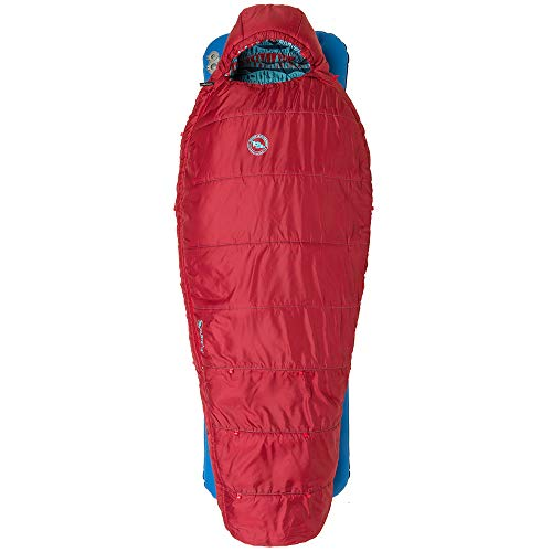 Big Agnes Duster 15 Kids' Synthetic Mummy Sleeping Bag, Red, Regular Length, Right Zipper