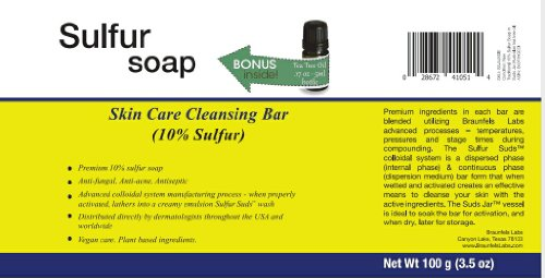 - Traditional 10% Sulfur Soap in Suds Jar (Australian tea tree oil)