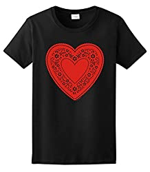 Valentines Day Cute Lace Heart Ladies T-Shirt