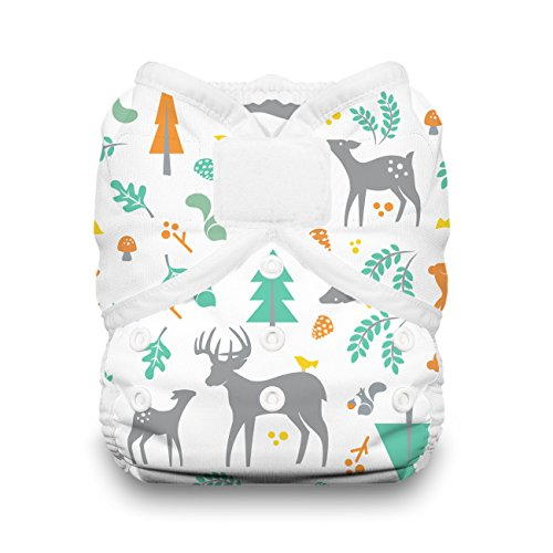 (Thirsties Duo Wrap Cloth Diaper Cover, Hook and Loop Closure, Woodland Size Two (18-40)