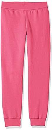 Hanes Big Girls' ComfortSoft EcoSmart Fleece Jogger Pants, Amaranth, S