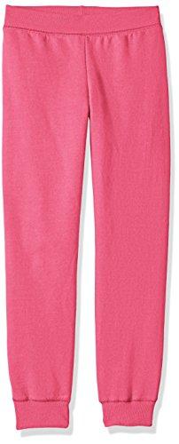 Hanes Big Girls' Comfortsoft Ecosmart Fleece Jogger Pants, Amaranth, XL
