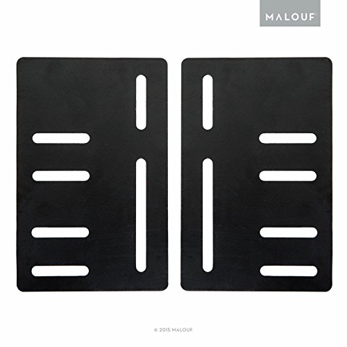 MALOUF STRUCTURES Bed Frame Headboard Bracket Modification Plate Vertical Modi, Set of 2 ()