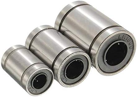 XueQing Pan LM6UU / LM8UU / LM10UUリニア軸受鋼の3Dプリンタアクセサリ - 5PCS (Size : LM8UU)
