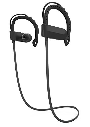HaoTuo Wireless Earbuds for Sport, Richer Bass HiFi Stereo In-Ear Earphones, 7-8 hours play Playback Noise Cancelling Headsets (black) by HaoTuo