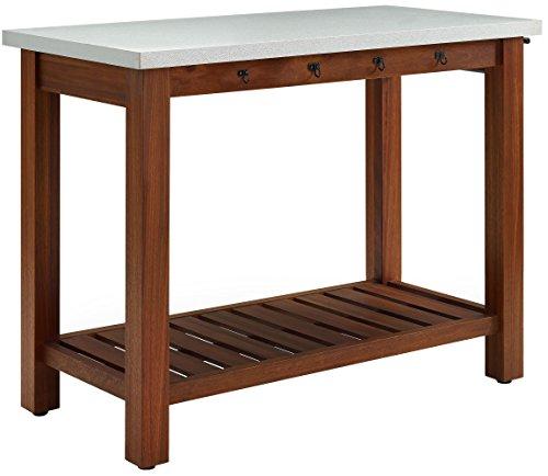 Crosley Furniture KF43101EU Mesa Indoor / Outdoor Island Buffet with Zinc Top - Eucalyptus