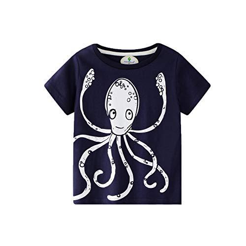 BIBNice Toddler Boy Clothes Kids Summer Cotton Outfits Shirt Short Sets 2-7T