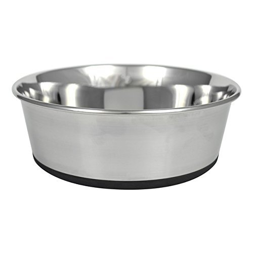 Ourpets 2040012478 9 Cup Stainless Steel No-Slip Bowl