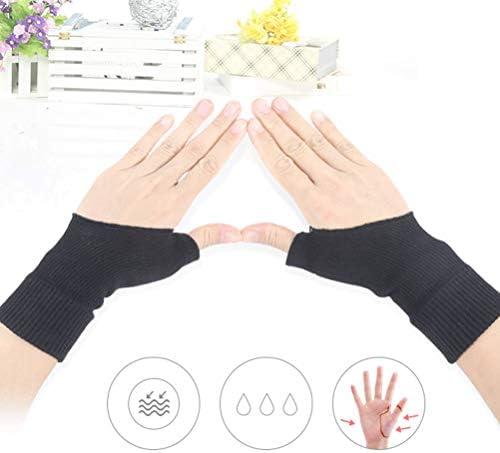 Artibetter 1 Paar Therapiehandschuhe Gel gefüllt Daumenstütze für Männer Frauen (schwarz)