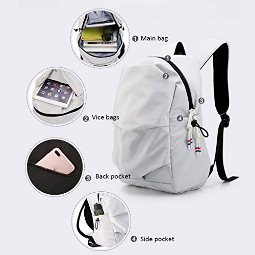Men's Black Gray M 15 Backpack Backpack Size Bag School Fashion inch Casual Color Bag Sports Computer BZRZ5w