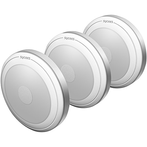 Sycees Touch-Activated LED Puck Lights, Dimmable, Battery-Operated, Stick-Anywhere, Daylight White, 3-Pack