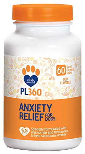 PL360 Anxiety Relief Chewable Supplements for Dogs, 60 Count