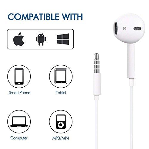2 pacchi Auricolari con Microfono In Ear Auricolari Stereo e Cuffie a  Isolamento Acustico per Apple iPhone 6 6s Plus 5s 5c 5 SE iPod iPad e altri  ... b5a3dc0b794d