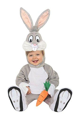 Looney Tunes Bugs Bunny Romper Costume, Gray, 12-18 -