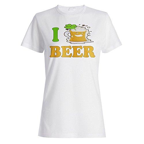 Bier irisch neuheit lucky lustig st. Patricks Tag Damen T-shirt vv96f